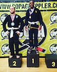 U.S. Army Staff Sgt. Ralph Cajuste wins first place at a Jiu Jitsu competition near Thomasville, Ga in 2019. (Courtesy photo)