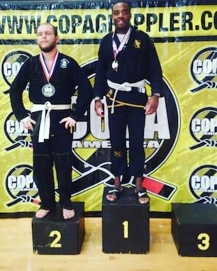 U.S. Army Staff Sgt. Ralph Cajuste wins first place at a Jiu Jitsu competition near Thomasville, Ga in 2019. (Courtesy photo)