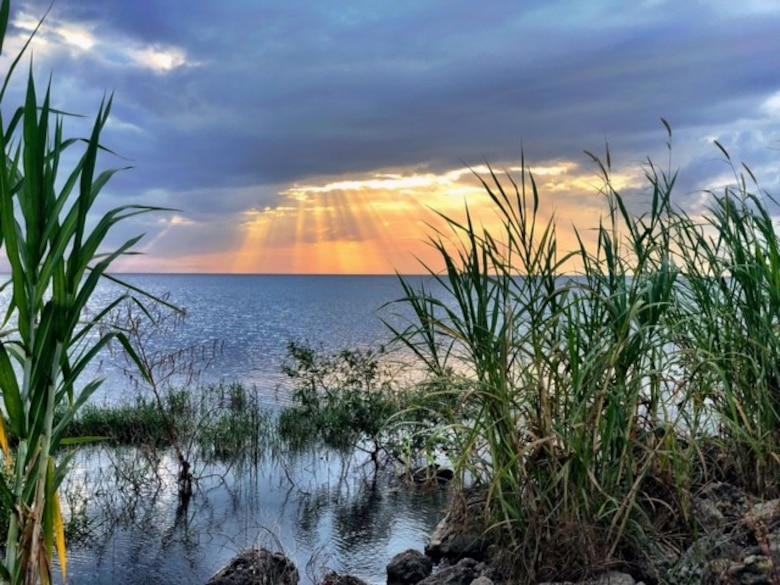 Lake Okeechobee at sunset