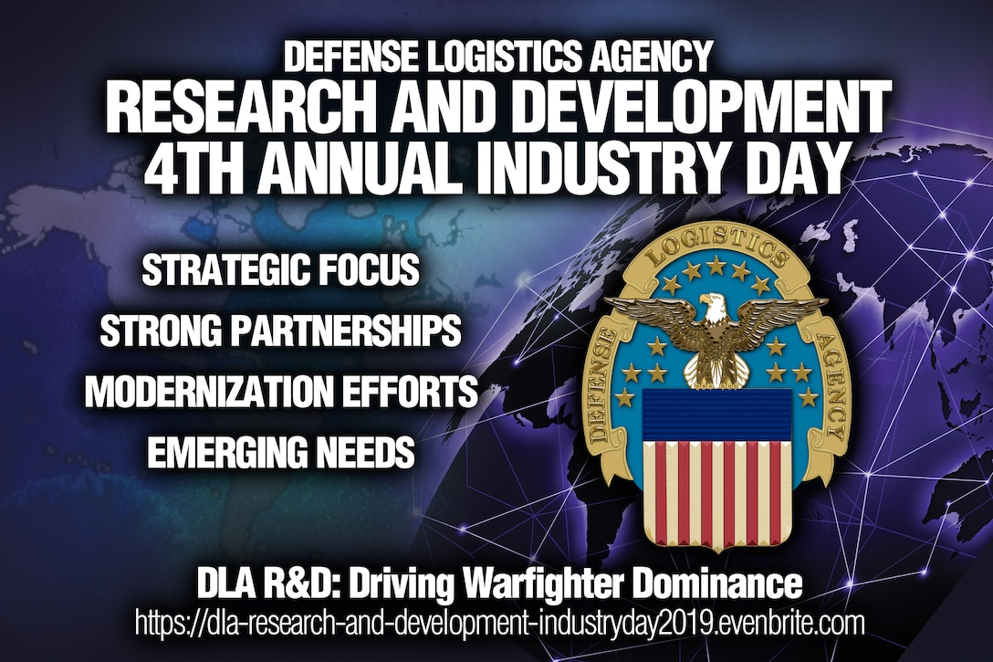 Enterprise Risk Management - text illustration with social icons and tablet computer and mobile cellphones on cyan digital world map background  Defense Logistics Agency Research and Development will host its 4th annual Industry Day for industry and academic partners Nov. 7 from 8 a.m. to 2 p.m. at the McNamara Headquarters Complex.