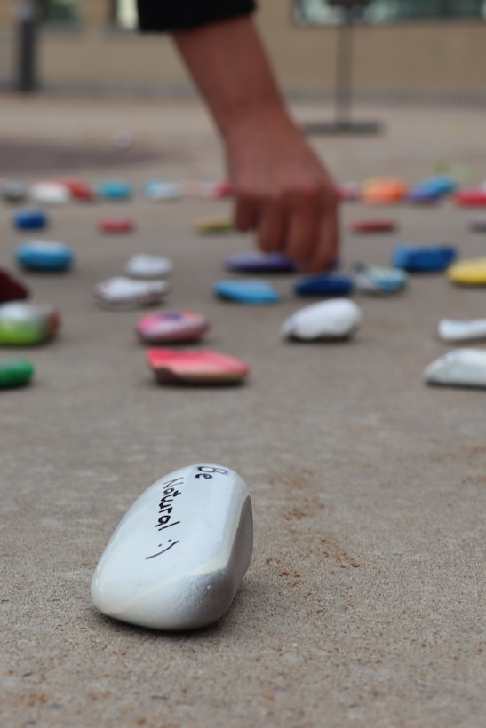 During Suicide Prevention Month, local middle schoolers teamed up with the 341st MDG to decorate rocks as a reminder that everybody matters and there are people out there who care.