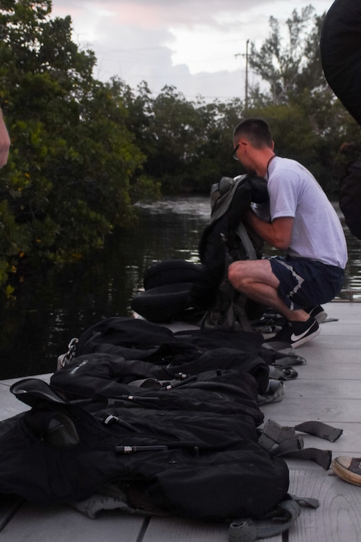 442d Operations Group Airmen conduct water survival training in Key West