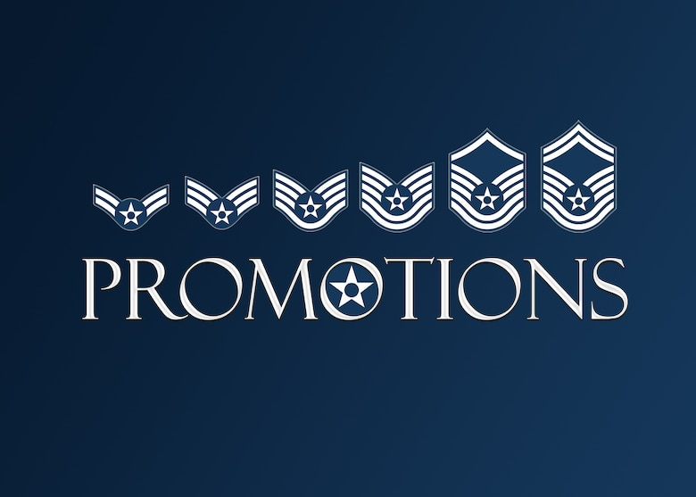 403rd Wing monthly promotions. (U.S. Air Force graphic by Lt. Col. Marnee A.C. Losurdo)