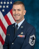 Official photo of Senior Master Sgt. Tyler Kuebler, superintendent of marketing for The United States Air Force Band, Joint Base Anacostia-Bolling, Washington, D.C.