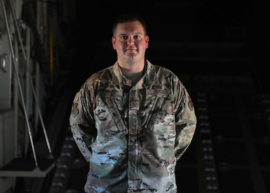An Airman poses for a photo