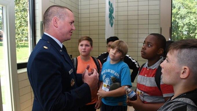 Maj. Benjamin Calhoon, 22nd Air Force executive officer