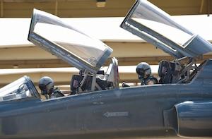 Pilots prepare for flight