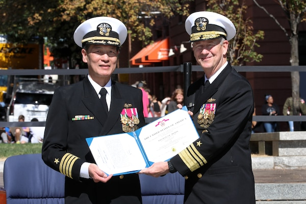 Promotion Ceremony in honor of Rear Adm. (sel) Huan T. Nguyen was held at the U.S. Navy Memorial & Heritage Center with Vice Adm. Tom Moore, COMNAVSEA, as the keynote speaker.