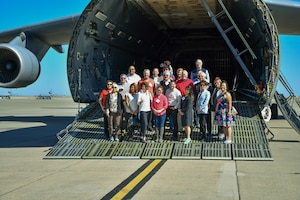 Travis Honorary Commanders were invited out to tour through the Maintenance Group facilities, Oct. 4, 2019 at Travis Air Force Base, California.