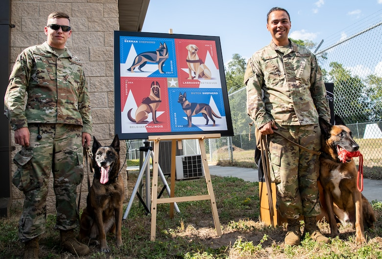 K-9 stamp dedication