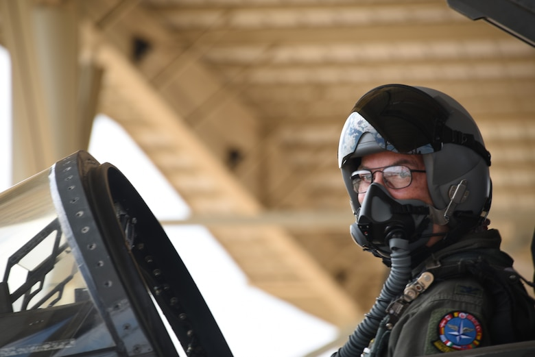 Col. Russell D. Driggers, 80th Flying Training Wing commander, prepares for flight