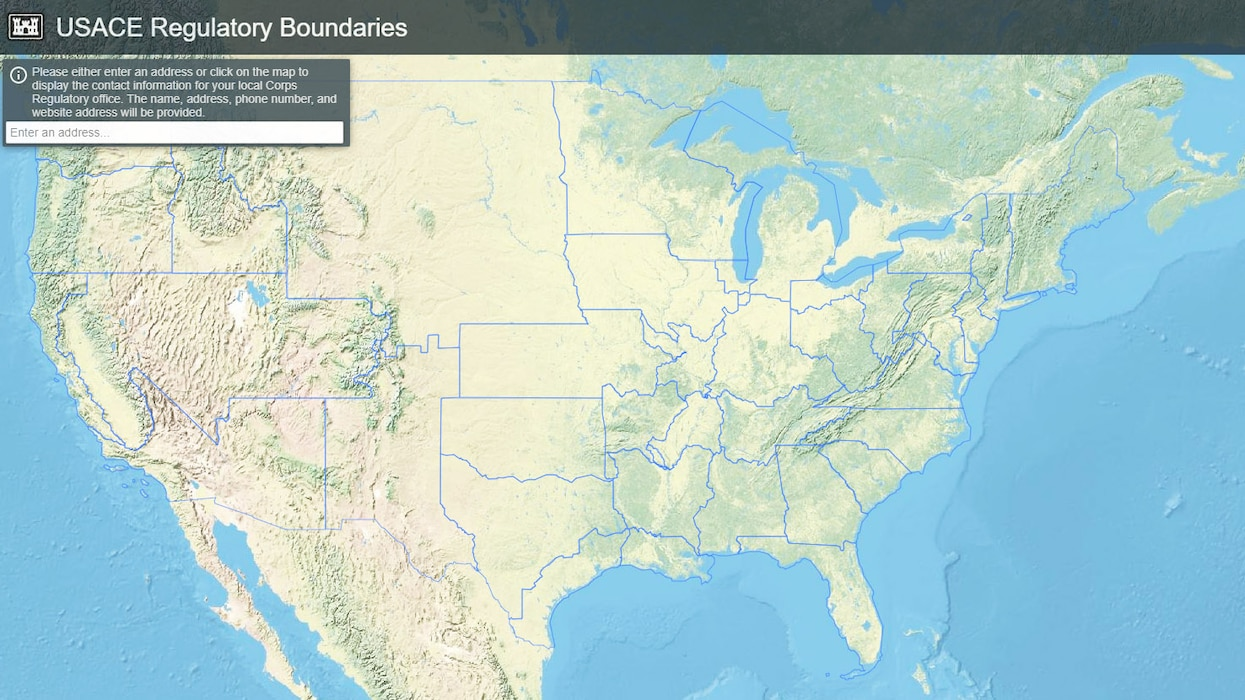 USACE Regulatory Boundaries