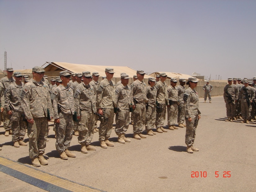 Serving her country, even before she was a citizen