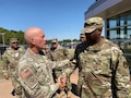 Lt. Gen. Luckey with 518th Sustainment Brigade