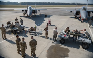 Airmen prepare for the quarterly load crew competition