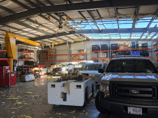 Despite sustaining considerable structural damage to one of its buildings and a 35% decrease in personnel following Hurricane Michael on Oct. 10, 2018