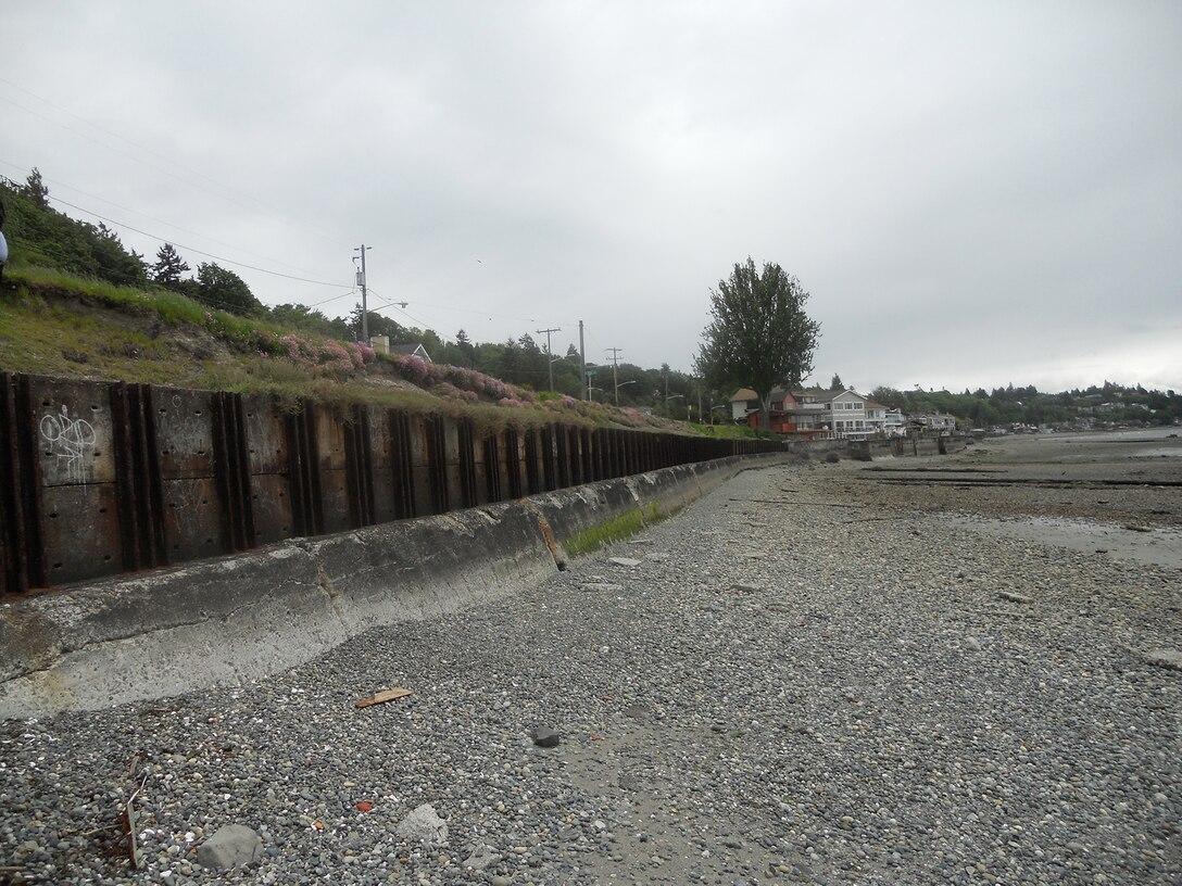 Seawall at Emma Schmitz Memorial Overlook in West Seattle