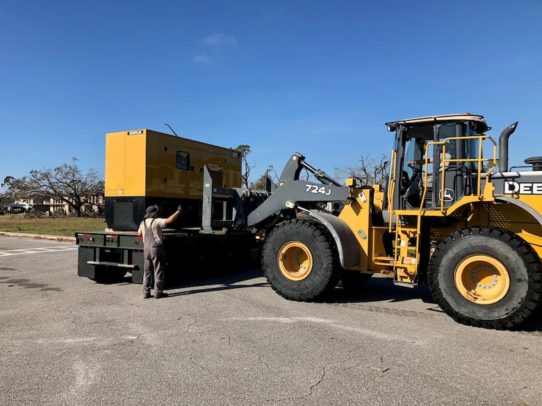 Less than 48 hours after Hurricane Michael devastated Tyndall AFB, several members of CEMIRT were on-site delivering generators to return power to the base.
