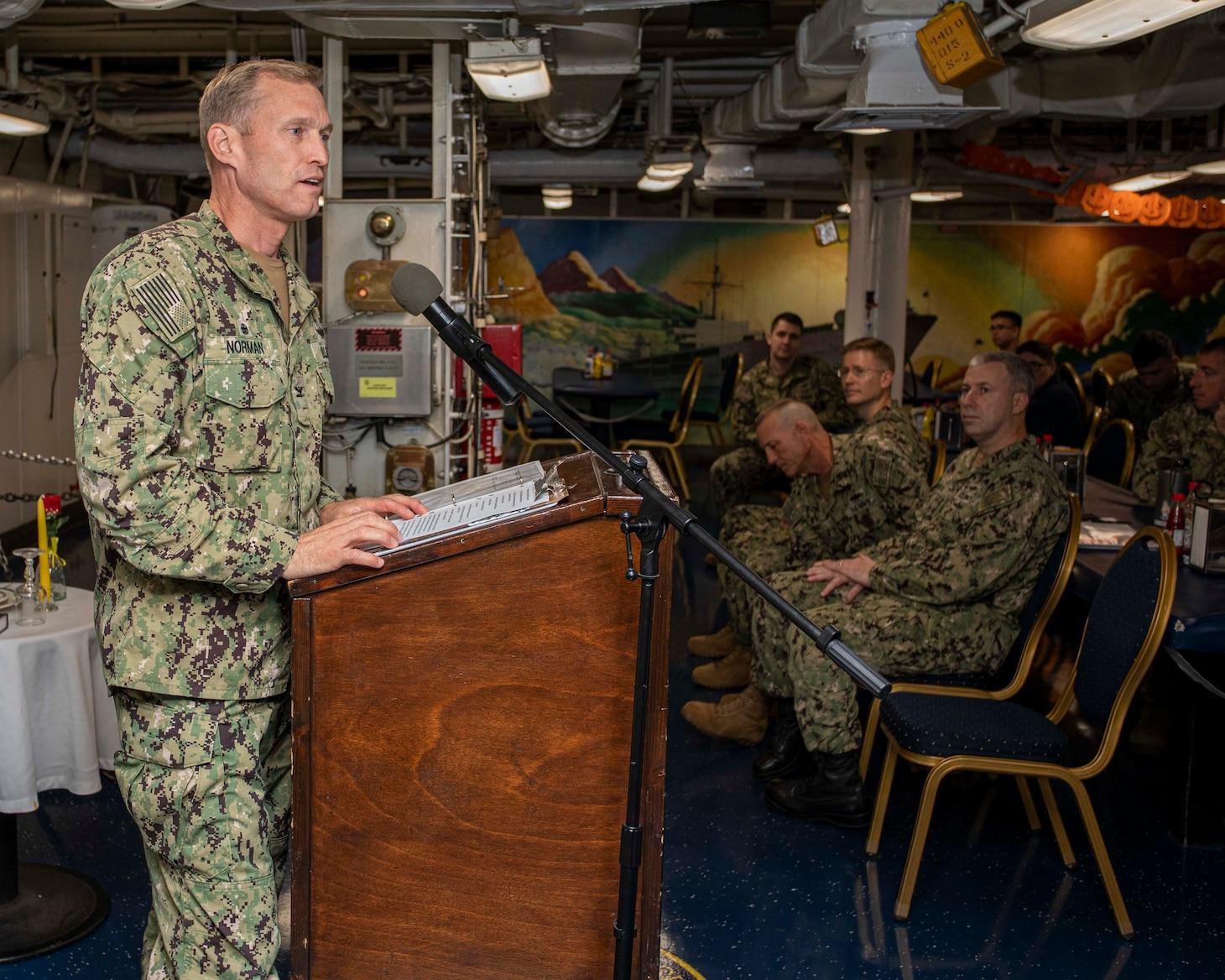 244th Navy Birthday; USS Mount Whitney (LCC 20)