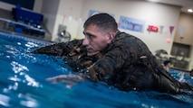 MARFORRES Marines conduct Swim Qualfication