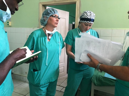 Brig. Gen. Irene Zoppi, director of U.S. Army South Army Reserve Engagement Cell, was invited to witness a full surgical process at Santa Teresa Community Hospital in Comayagua, Honduras, Sept. 24-26. The medical element team conducts surgical readiness training exercises for the local community.