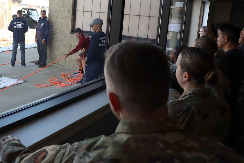 The competition had Airmen of various units perform simulated tasks that firefighters would in the event of a fire.