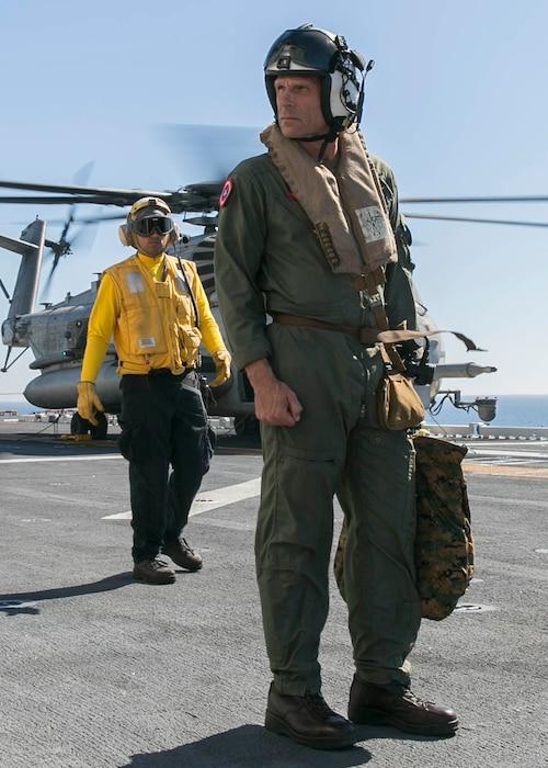 3rd MAW CG Tours USS America