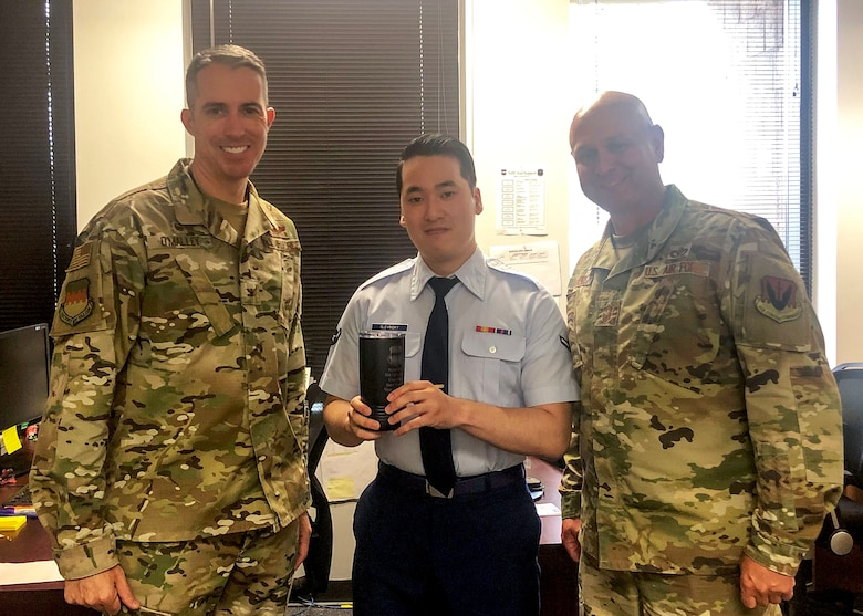 U.S. Air Force Airman Peter Slevinsky, 20th Force Support Squadron force management technician, was recognized as Weasel of the Week (WOW) at Shaw Air Force Base, South Carolina, Oct. 3, 2019.