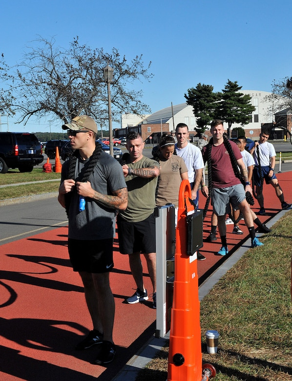 The 439th Force Support Squadron hosted its first quarterly fitness challenge at the Westover Fitness Center, Oct.5.
