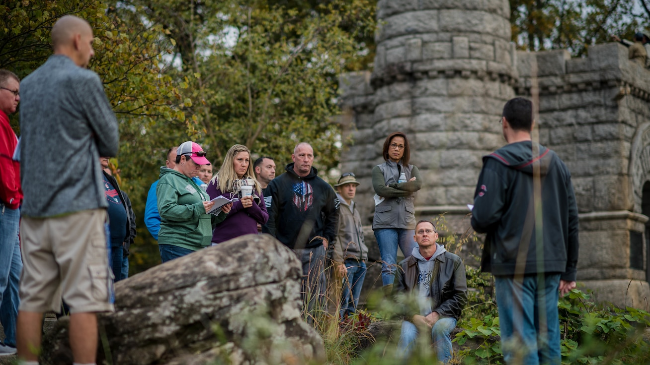 More than 25 Reserve Citizen Airmen and civilians from YARS attended a three-day staff ride to Gettysburg Oct. 10-12, 2019.