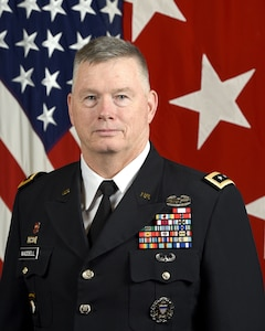 U.S. Army Lt. Gen. Ricky Waddell, Assistant to the Chairman, Joint Chiefs of Staff, poses for a command portrait in the Army portrait studio at the Pentagon in Arlington, Va., Oct. 8, 2019.