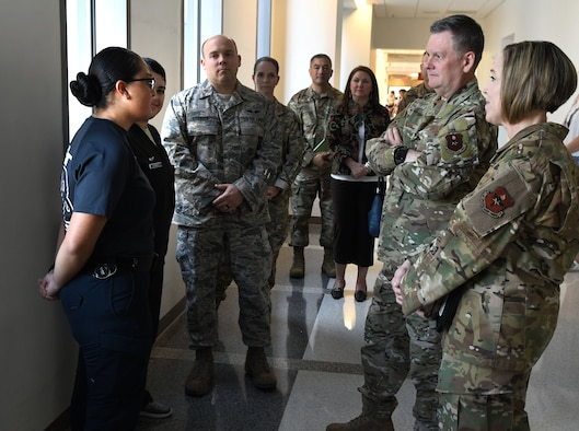 AETC leadership visits the 59th Medical Wing