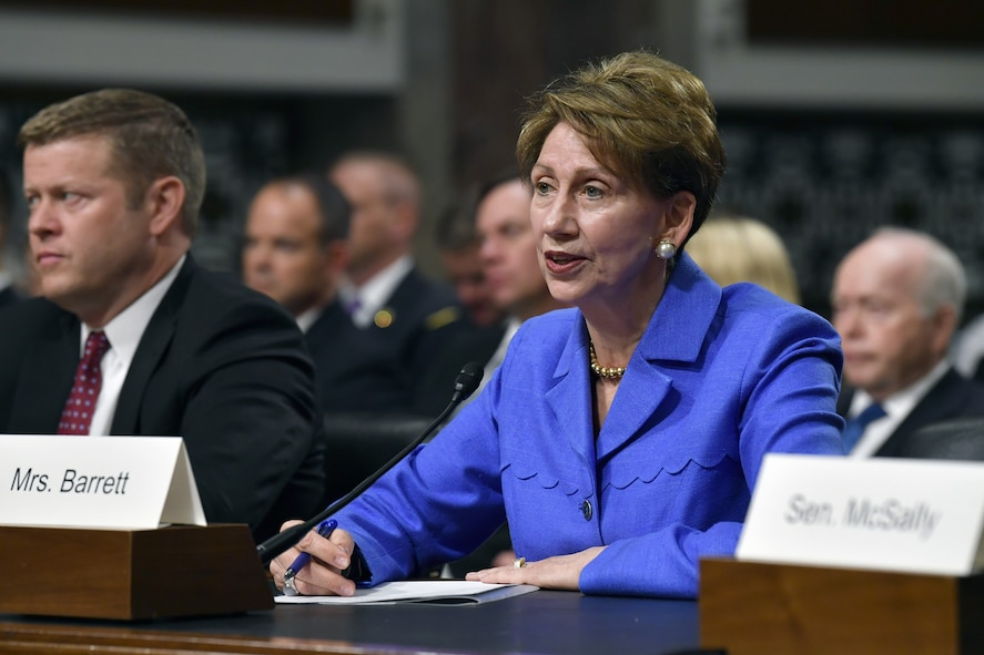Barbara Barrett was easily confirmed by the Senate Oct. 16, to be the 25th Secretary of the Air Force. As an experienced pilot, former ambassador and senior government official, Barrett was praised for her wide experience and long history with aviation and the United States military. (U.S. Air Force file photo by Wayne Clark)