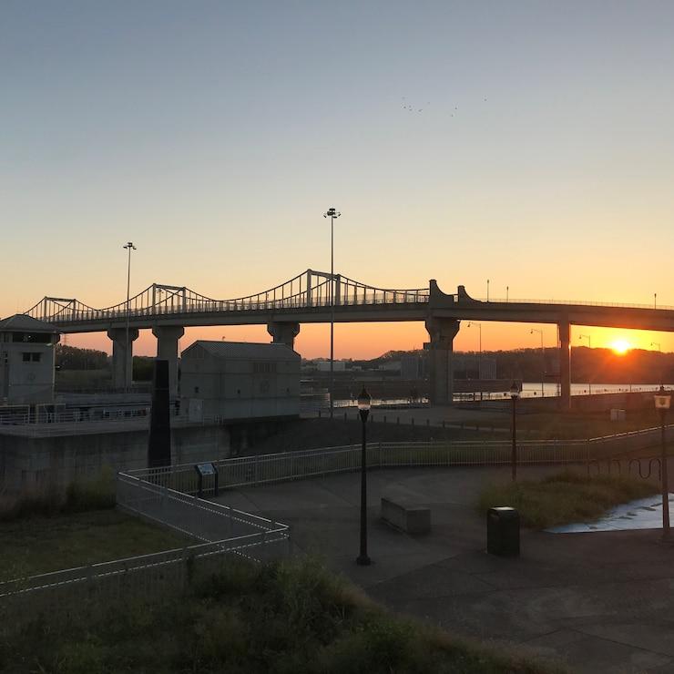 A beautiful October morning at McAlpine Locks and Dam in Louisville, Kentucky.