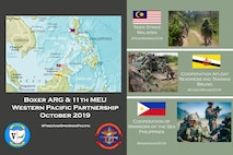 photos were used for this layout and design to inform an online audience via social media about the role of the 11th Marine Expeditionary Unit in the 7th Fleet area of operations