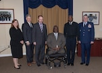Leaders from the HQC tenant organizations flank guest speaker Retired Army Col. Gregory Gadson. Photo by Teodora Mocanu