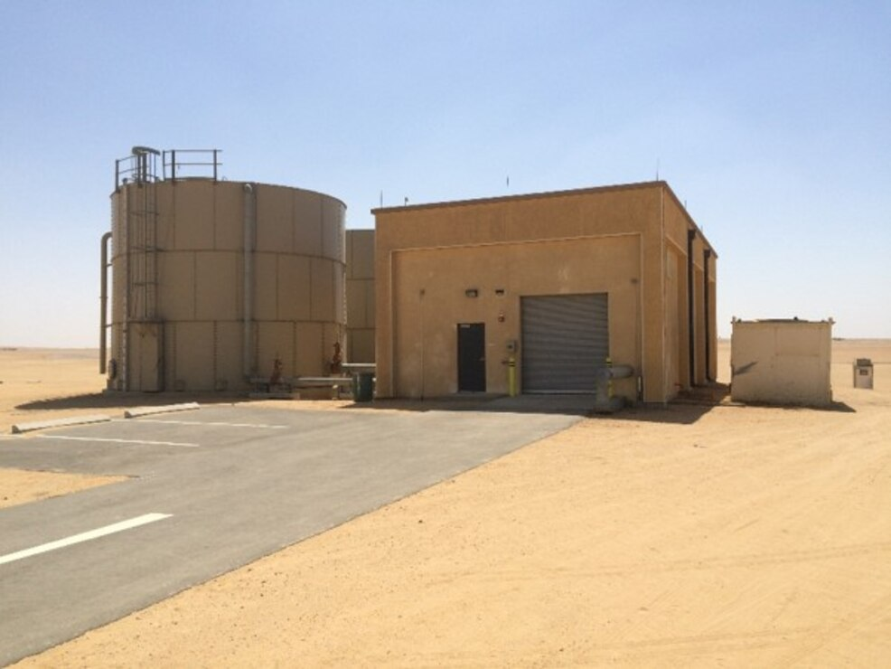 Peace Vector VII Program Fire Pump Building and Tanks at Cairo West Air Base, Egypt
