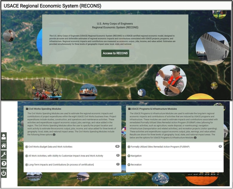 This is a screenshot of the RECONS 2.0 front page.