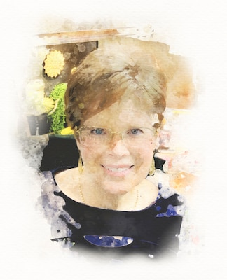 Watercolor Graphic of the author, Beth Reece.