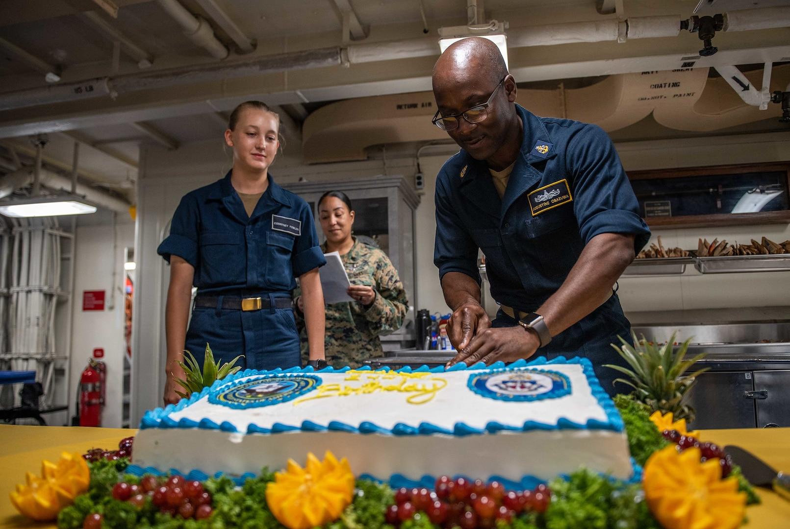 Guam Sailors Celebrate 244th Navy Birthday with Ball