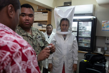 Navy Team Helps Ebeye Defend Against Mosquitoes