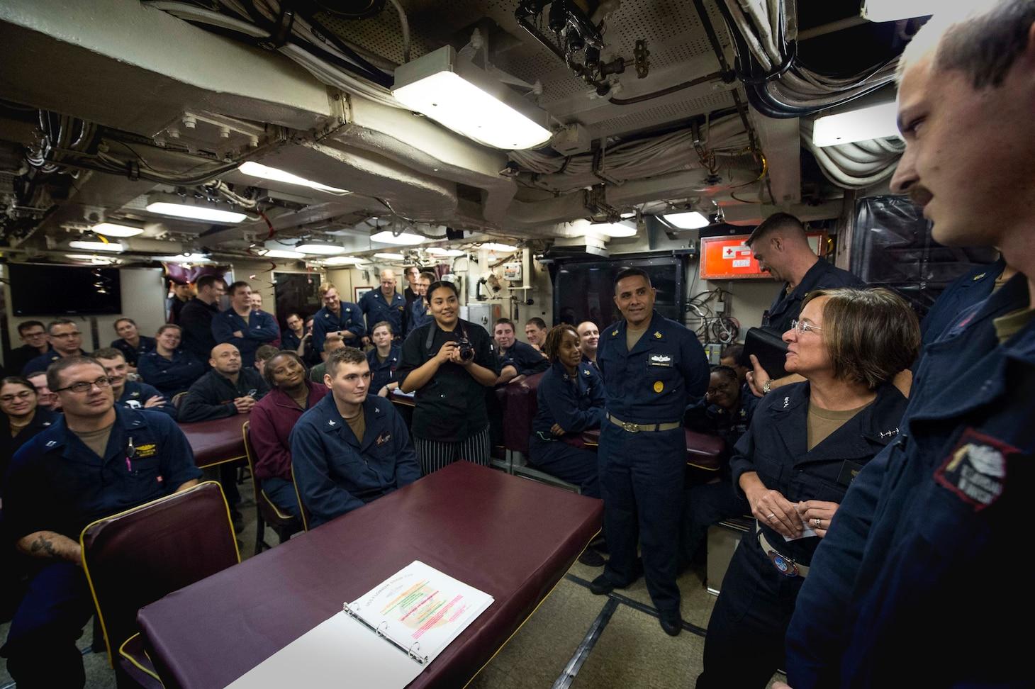 USS Florida underway in the Mediterranean Sea.