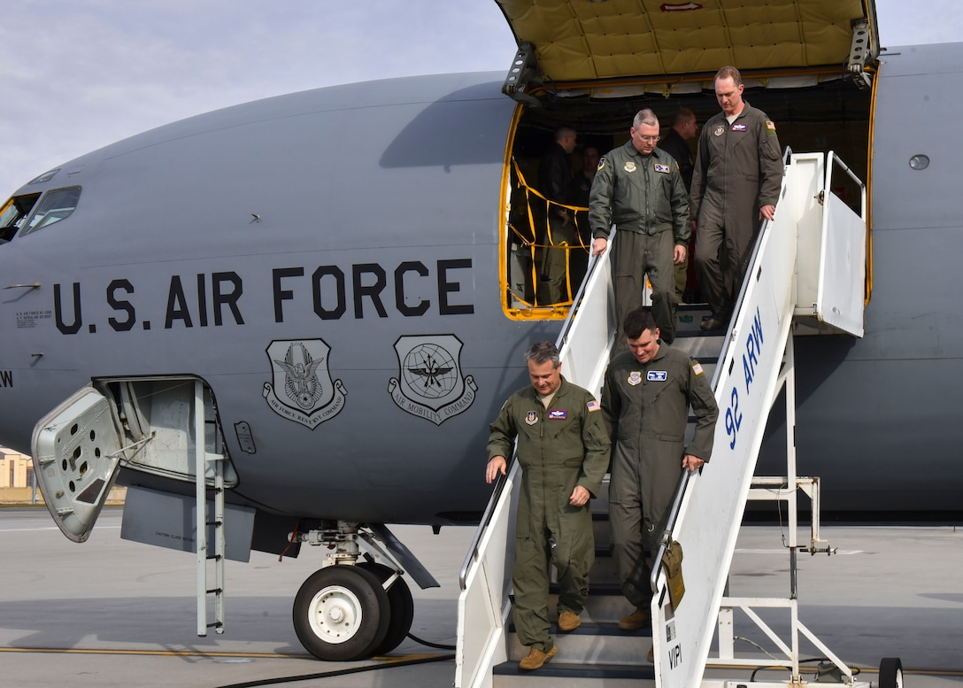 The future is now: First of 12 additional KC-135s lands at Fairchild