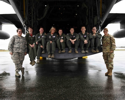 All-female C-130H crew lands at international air show