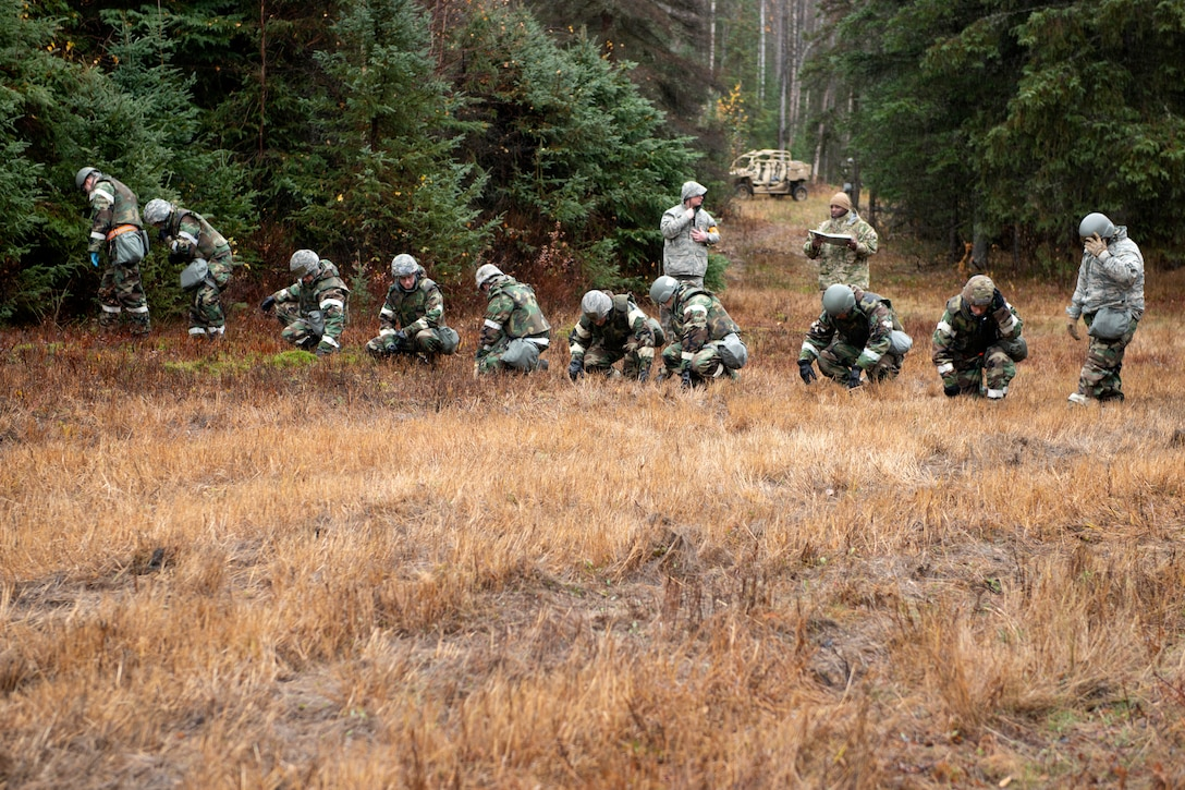 Airmen participate in search and recovery training