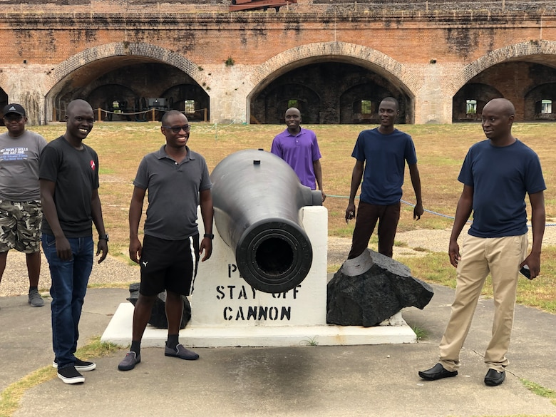 Kenyan Air Force aircrews attending the C-145 Skytruck aircraft training at Hurlburt Field, Florida, take a trip to historic Fort Pickens, Oct. 12, 2019. These experiences help meet the objectives of the Department of Defense Field Studies Program by socializing our international partners with American ways of life, to see how our government and military operate and how human rights are incorporated throughout American institutions. (Courtesy Photo)