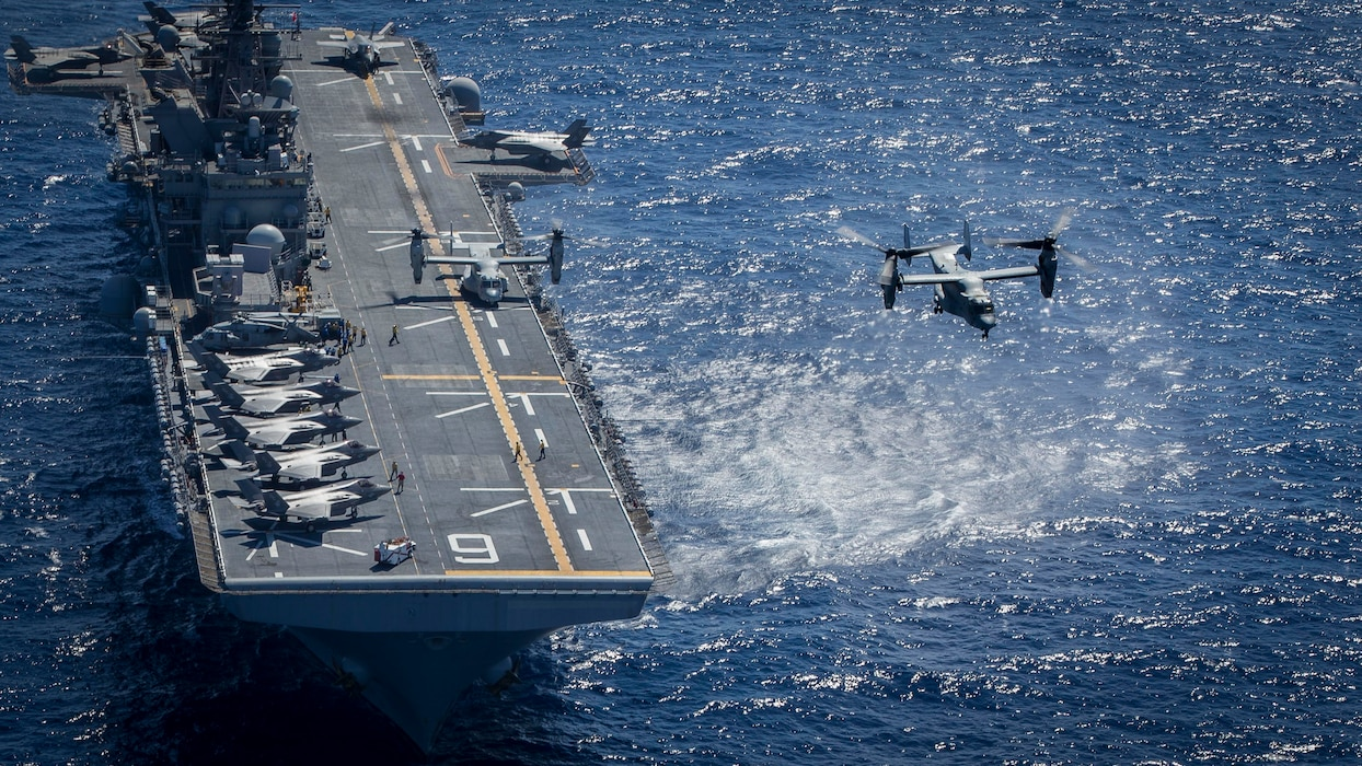 Generating Lethality: 13 F-35B, Two MV-22B aboard USS America
