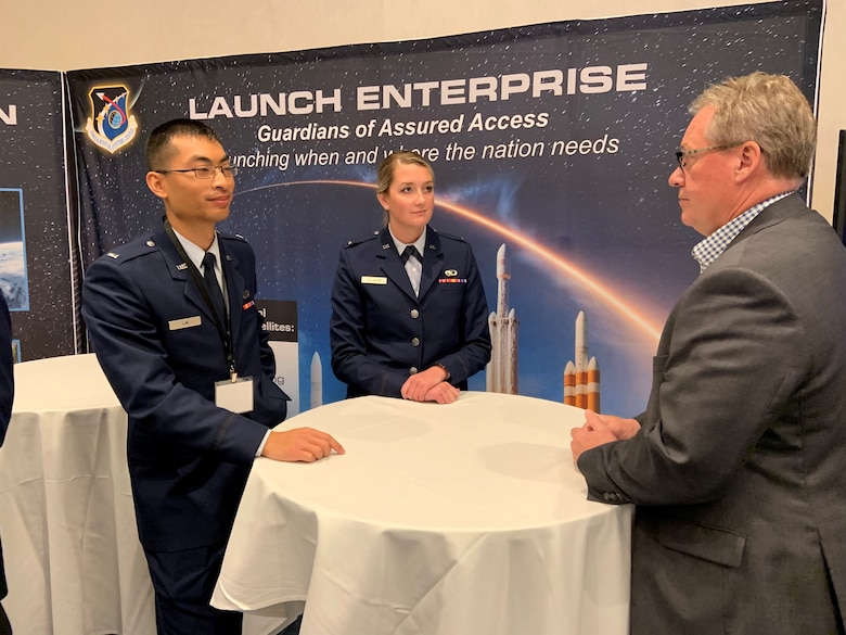 Members of the Space and Missile Systems Center brief industry during Space Industry Days, Los Angeles, Calif., Oct. 17, 2019. Space Industry Days provide a venue for Air Force and industry professionals to discuss current and emerging opportunities.   (U.S. Air Force photo by Lt. Col. Elizabeth Aptekar)