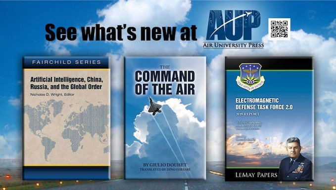 Image advertising new Air University books