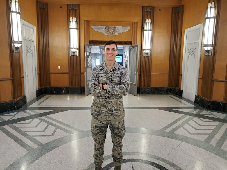 2nd Lt. Chad Cleary, a program manager with the Egress and Survival Branch, entered the Air Force after graduating from the United States Merchant Marine Academy. (U.S. Air Force photo / Brian Brackens)